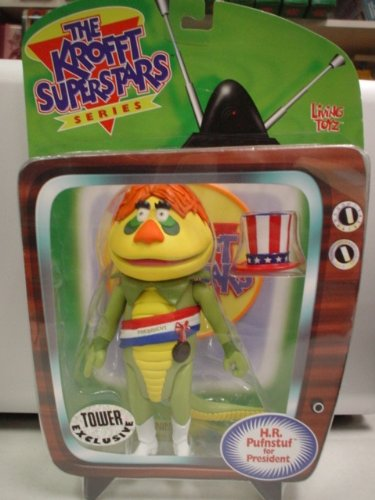 THE KROFFT SUPERSTARS SERIES H.R Living Toyz PUFNSTUF FOR PRESIDENT TOWER RECORDS EXCLUSIVE!