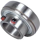 "Peer Bearing FHS205-16 Insert Bearing, FHS200-G Series, Narrow Inner Ring, Spherical Outer Ring, Non-Relubricable, Set Screw Locking Collar, Single Lip Seal, 1"" Bore, 15 mm Inner Ring, 27 mm Outer Ring, 1"" (25.4 mm) ID, 2.047"" (51.999 mm) OD, 2.047"" (51.999 mm) Width"