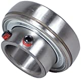 Peer Bearing FHS206-20 Insert Bearing, FHS200-G Series, Narrow Inner Ring, Spherical Outer Ring, Non-Relubricable, Set Screw Locking Collar, Single Lip Seal, 1-1/4'' Bore, 18 mm Inner Ring, 30 mm Outer Ring, 1.25'' (31.75 mm) ID, 2.441'' (61.999 mm) OD, 2.44