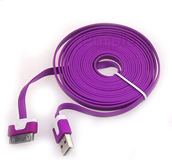 6X USB SYNC DATA POWER CHARGER CABLE APPLE IPAD IPHONE 4S 4 3GS IPOD TOUCH PINK