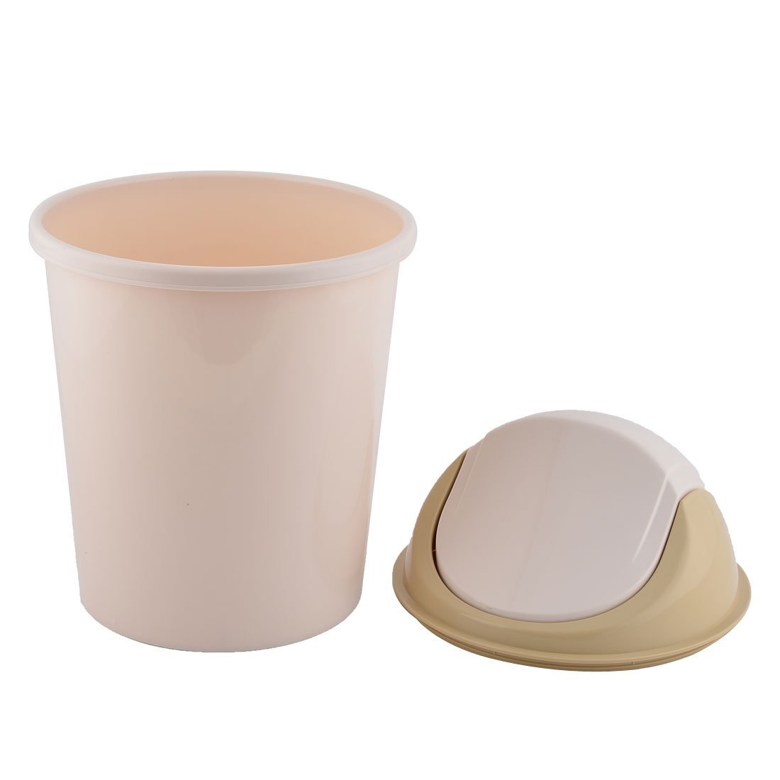 eDealMax plástico Inicio de basura La basura seedcase Wastepaper Holder Caja de almacenamiento Bin Can Beige