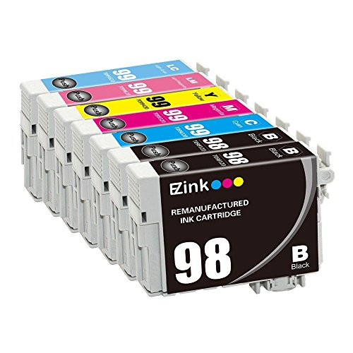 E-Z Ink EZEPSON9899-7P Remanufactured Ink Cartridge Replacement for Epson 98 99, T098120 T099220 T099320 T099420 T099520 (2 Black, 1 Cyan, 1 Magenta, 1 Yellow, 1 Light Cyan, 1 Light Magenta), 7 Piece