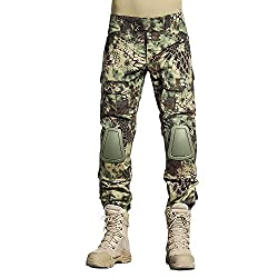 SINAIRSOFT Tactical Pants Shirt with Knee Pads Army Airsoft Combat BDU Pants Shirt MR