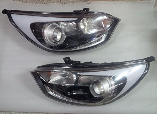 Sell by Automotiveapple, Kia Motors OEM Genuine Projection Head Light Lamp Assembly LH RH 2-pc Set For 2012 ~ 2015 Kia Rio : All New Pride (Hatchback/5door)