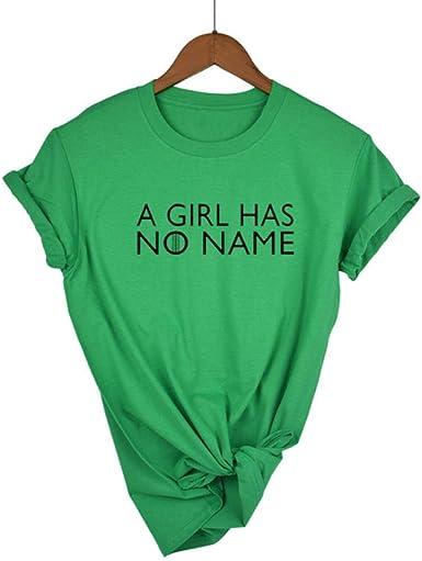 Camisetas de Mujer Camisa Verde de Verano Divertido Casual O ...
