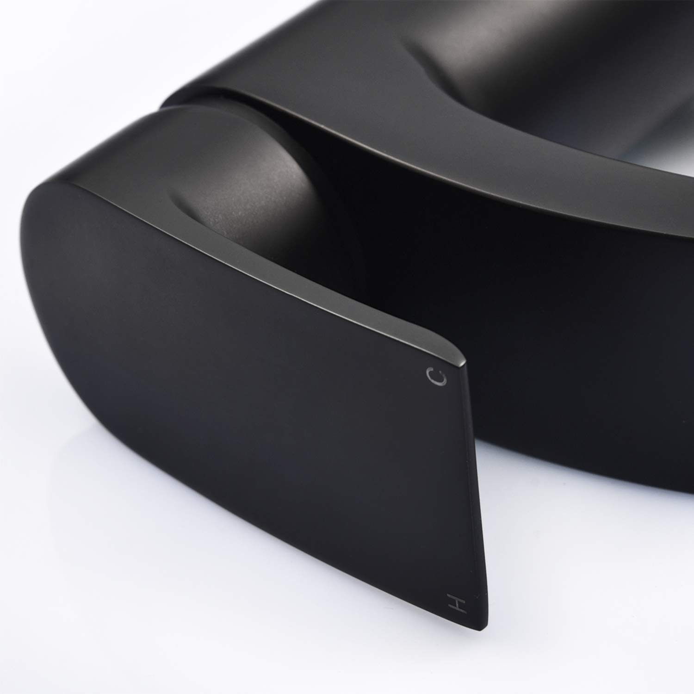 color negro Funime Grifos redondos para lavabo de ba/ño lat/ón, con mangueras