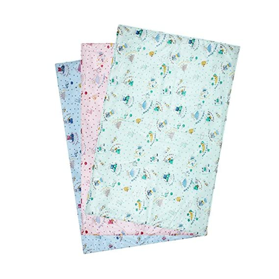 Littly Multipurpose Baby Plastic Sheets (Pack of 3, Multicolor)