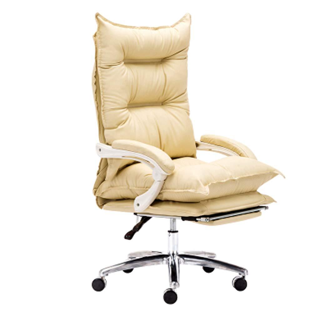 Kontorsstol/datorstol lat soffstol roterbar lyft hem spel baksida kontorsstol mode datorstol kontor mjuk stol (färg: vit) Rosa