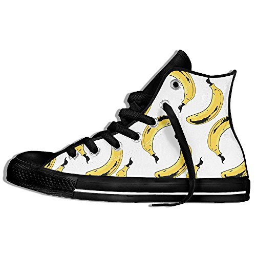 Classiche Sneakers Alte Scarpe Di Tela Anti-skid Banane Seamless Casual Da Passeggio Per Uomo Donna Nero