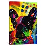 iCanvasART 1 Piece French Bulldog #2 Canvas Print by Dean Russo, 40 by 26''/1.5'' Deep