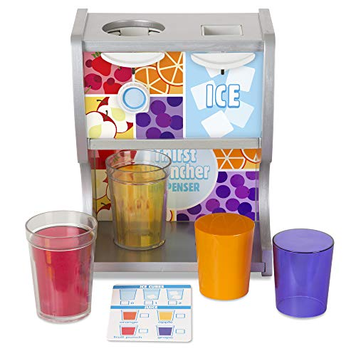 Melissa & Doug Wooden Thirst Quencher Drink Dispenser (10 Pieces, Great Gift for Girls and Boys - Best for 3, 4, 5, 6, and 7 Year Olds) (The Best Thirst Quencher)