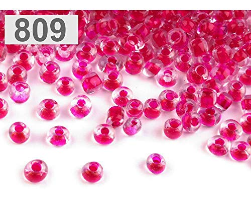 50g 809 Raspberry Glass Seed Beads