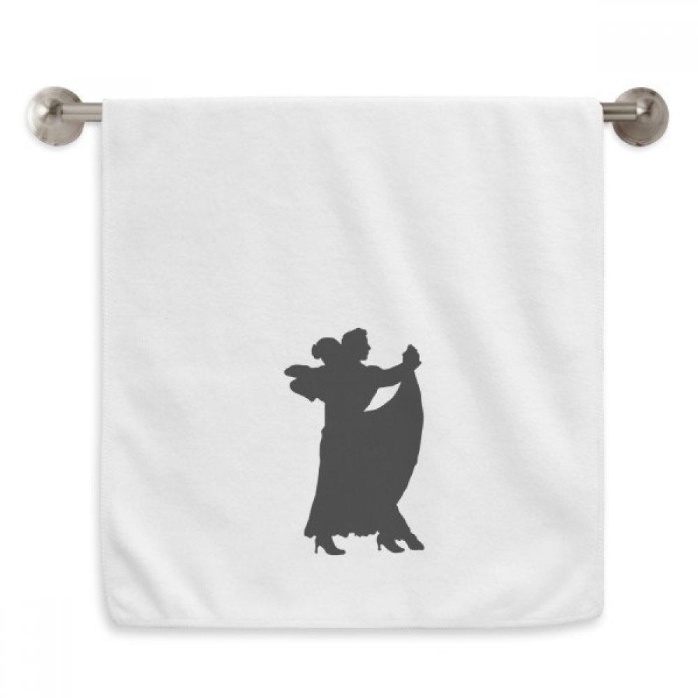 DIYthinker Dancer Duet Art Performance Duet Dance Circlet White Towels Soft Towel Washcloth 13x29 Inch