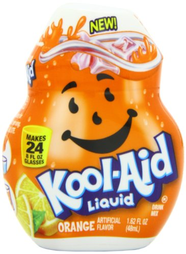 Kool-Aid Liquid Drink Mix Bottle, Orange, 1.62 Ounce (Aid Flavor)