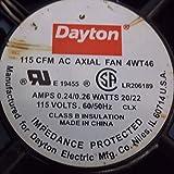 Dayton 4WT46 Fan, 115 CFM, 115 V