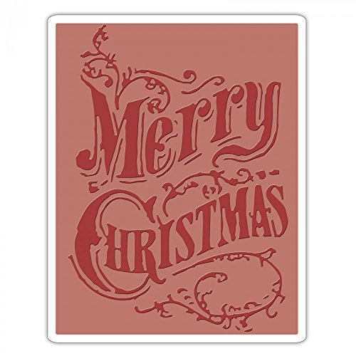 - Sizzix 661609 Texture Fades Embossing Folder, Christmas Scroll by Tim Holtz