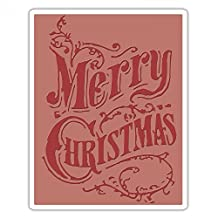 Sizzix 661609 Texture Fades Embossing Folder, Christmas Scroll by Tim Holtz