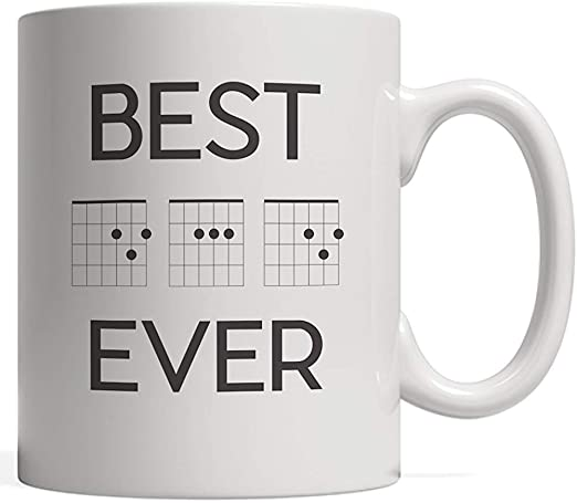 Taza divertida de acordes de guitarra con la mejor música de papá ...