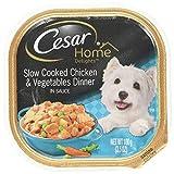 Cesar HOME DELIGHTS Wet Dog Food Slow Cooked Chicken & Vegetables Dinner, (Pack of 24) 3.5 oz. Trays