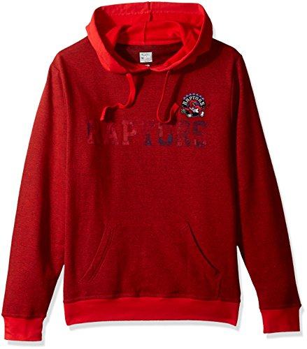 Majestic Hood Athletic (VF LSG Right Intentions Program NBA Men's Long Sleeve Pullover Hood, Large, Athletic Red Slub-Athletic Red-Regal Purple)
