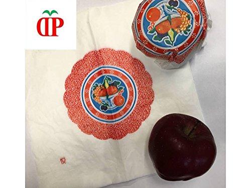 KG 3 Veline 25x25 per confezionamento frutta - fazzoletti bianchi per alimenti con disegnato cesto frutta ND