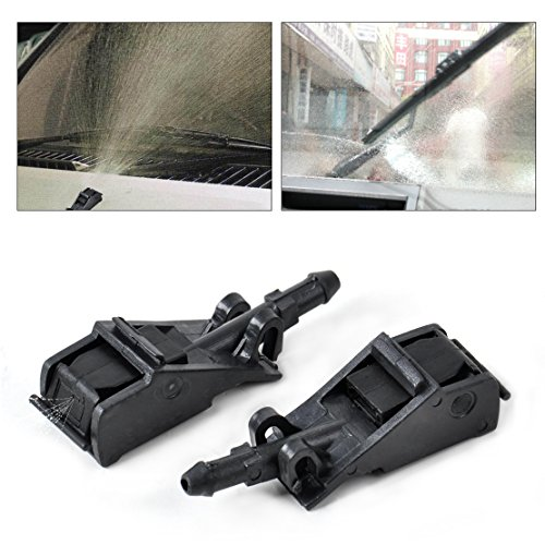 beler New 2Pcs Windscreen Washer Jet Water Spray Nozzle For VW Volkswagen Beetle Golf Jetta Passat (Washer Jetta Volkswagen)