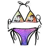 Nono Shop Waifu - Anime Bikini Halter Racerback Swimsuit Beachwear