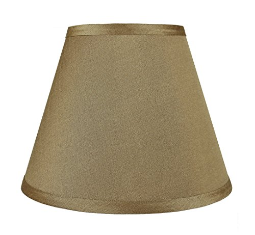 Urbanest Coolie Hardback Lampshade, Faux Silk, 5-inch by 9-inch by 7-inch, Gold, Spider Washer Fitter ()