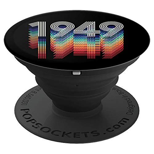 (Vintage 1949 Retro Year Design Black Blue 70th Birthday Gift - PopSockets Grip and Stand for Phones and Tablets)