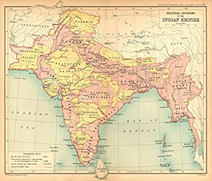Old Map Of India Amazon.com: British India Political Divisions. Native States