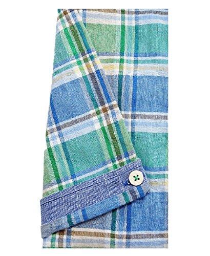 Casa Moda Casual Fit Kurzarmhemd Karodessin in blau grün beige 972664900-300 Gr. M bis 7XL