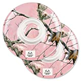 "DII, Real Tree Chip & Dip Platter, Melamine, Set of 2, 12"" Diameter , Pink Camo"