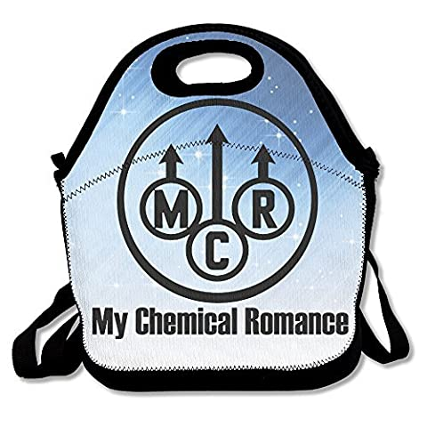 My Chemical Romance Lunch Bag Lunch Tote, Waterproof Outdoor Travel Picnic Lunch Box Bag Tote With Zipper And Adjustable Crossbody - Ipod Redskin