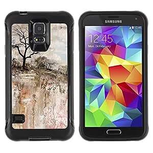 Paccase / Suave TPU GEL Caso Carcasa de Protección Funda para - Painting Art Rock Cliff Tree - Samsung Galaxy S5 SM-G900