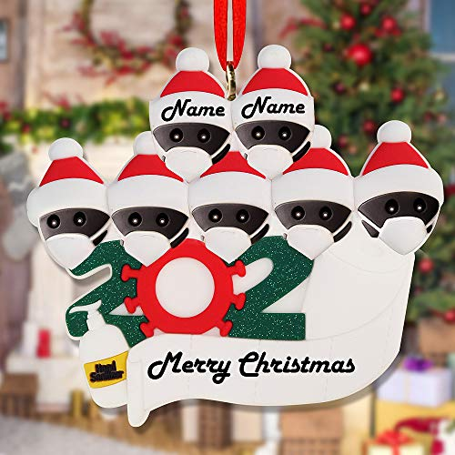 2020 Merry Christmas Xmas Tree Hanging Ornaments Family Personalized Decor