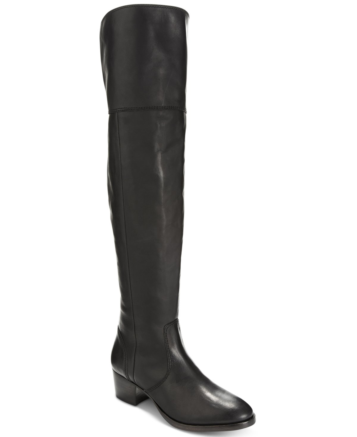 FRYE Women's Clara OTK Leather Slouch Boot B018YLY58E 5.5 M US|Black Smooth Vintage Leather