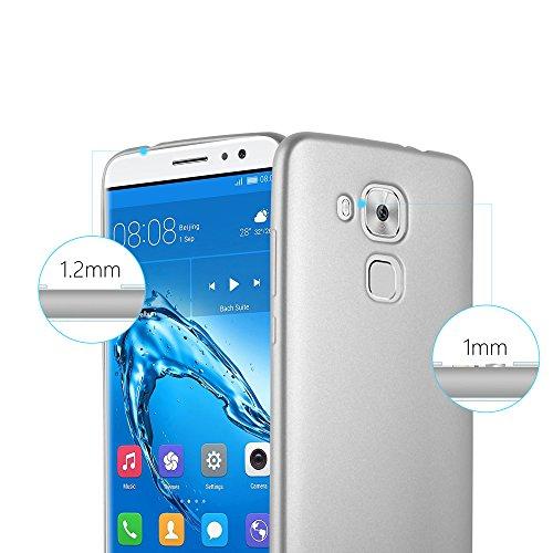 Cadorabo - Cubierta Protectora para >                                                  Huawei NOVA PLUS                                                  < de Silicona TPU con Efecto Metálico Mate