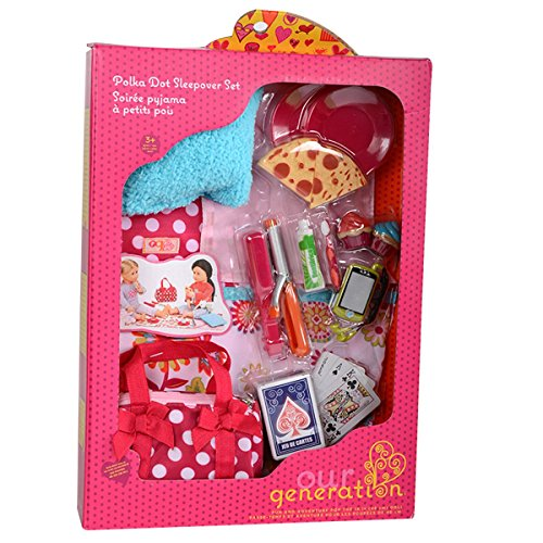 Our Generation Pegged Accessory - Polka Dot Sleepover Set (American Girl Dolls For Sale In Canada)