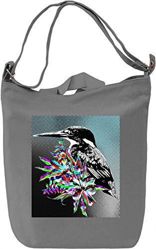 Kingfisher Illustration Borsa Giornaliera Canvas Canvas Day Bag  100% Premium Cotton Canvas  DTG Printing 