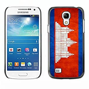 LJF phone case Shell-Star ( National Flag Series-Cambodia ) Snap On Hard Protective Case For Samsung Galaxy S4 MINI / i9190 / i9192
