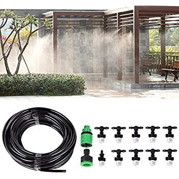 Outdoor Garden Plants Irrigator Misting Cooling System with Plastic Nozzles TE