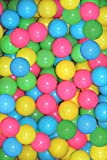 1000 Colorful Ball Pit Balls Fun Ball Soft Plastic Sizzlin Cool Ocean Swim Toys