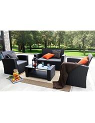 Baner Garden (N87) 4 Pieces Outdoor Furniture Complete Patio ...