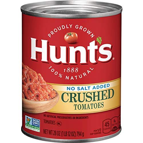 Crushed Tomatoes - Hunt's Crushed Tomatoes No Salt Added, 28 oz