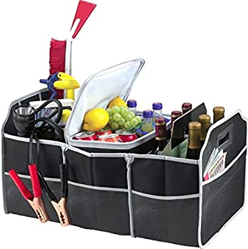 Collapsible 3-Section Car Trunk Organizer