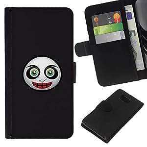 // PHONE CASE GIFT // Moda Estuche Funda de Cuero Billetera Tarjeta de crédito dinero bolsa Cubierta de proteccion Caso Samsung ALPHA G850 / Evil Mask Face /