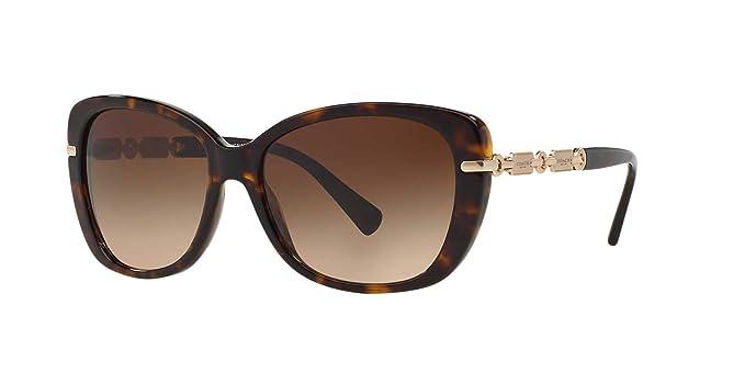 b3b58d43ca Coach Women s HC8131 HC 8131 5281 13 Dark Tortoise Gold Fashion Sunglasses  58mm