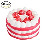 Toys : Myfreed Decompression toys Cute Squishies Slow Rising Soft Squishies Charms Toy for Stress Relief Strawberry Cake toy