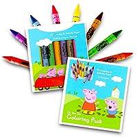 Peppa Pig On the Go Libro de actividades para colorear de 72 páginas con un juego de 8 crayones Jumbo coloridos fáciles de agarrar