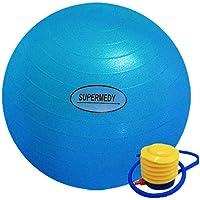 Bola de Pilates 65 cm Azul c/Bomba Supermedy